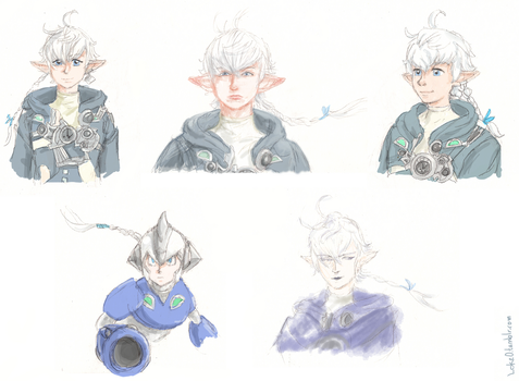 Different styles Alphinaud by GoreChick