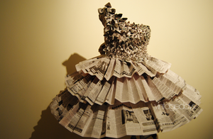 A Newspaper Dress by VintageDays
