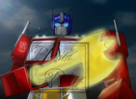 G1 Optimus Prime with Energon Axe -COMPLETE- by Lady-ElitaOne