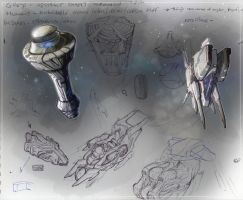spaceships rigs 1 coloured 1 by KeanKennedy