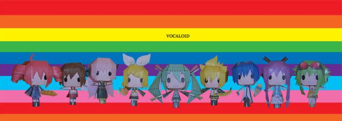 Vocaloid Papercraft by tsunyandere