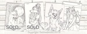 Fav Sketch Cards from 2014 by GoldenDruid
