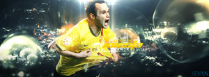 Andres Iniesta by SevanGraphics