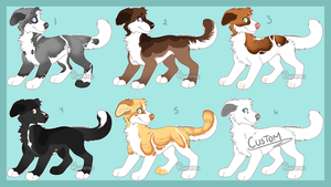 Emergency Canine Adopts Batch (1/6 Open) by HP-Adopts