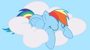 Rainbow Dash in the Sky [Redone] Wallpaper by bluedragon14