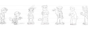 Anthro line-up by aimee5