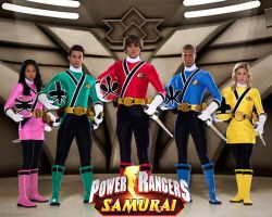 Cast of Power Rangers Samurai by scottasl