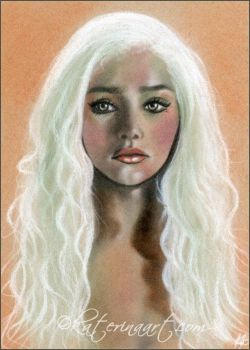 Mother of Dragons speed drawing sketch by Katerina-Art