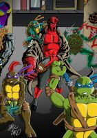 TMNT Feat. Hellboy by Drew0b1