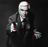 Lt. Frank Drebin 3-D conversion by MVRamsey