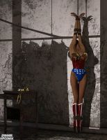 Wonder Woman Strung Up by thejpeger