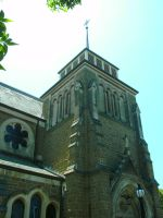 St. James Church view two by the-wire