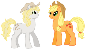 MLP Dixie-May and Apple Jack by toast4nat