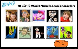My Top 10 Worst Nick Characters by SithVampireMaster27