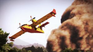 Canadair C415 in action by Linolafett