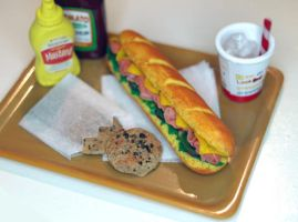 Miniature Subway Menu by ChocolateDecadence