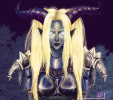 Commission of Draenei OC from WoW by waywardgal