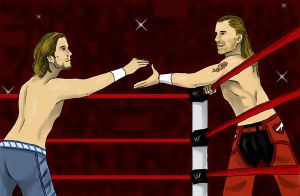 tag team with HBK by nimtaril