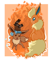 Eevee Evolutions - Flareon by ImmortalTanuki