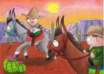Donkey Chase by Lady-KL