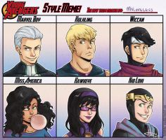 Young Avengers - Huda style meme by msloveless