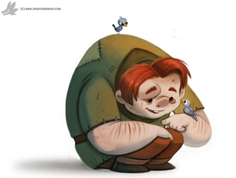 Daily Painting 875. Quasimodo by Cryptid-Creations