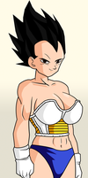 Female-Vegeta. by falele27