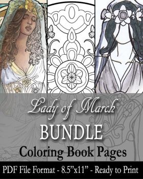 Coloring Pages - Lady of March by AngelaSasser