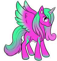 Mint Berry Alicorn Adopt - Closed by Piyos-Adoptables