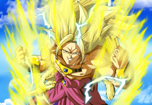 SSJ3 Brolly Color by Gothax