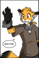 Mike - High Five colored by Nishizumi77