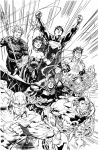 JUSTICE LEAGUE - Sample inks over Jim Lee by lebeau37