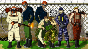 Metal Gear - The Outer Heaven Mercenaries by Atomic-Chinchilla