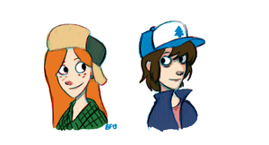 Wendy and Dipper by Fouxed