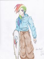 Rainbow Dash (Genderbent / Anthropomorphized) by Piojalla