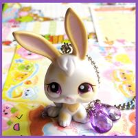 Bunny Pet Necklace by cherryboop