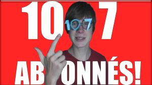 107 abonnes sur youtube by Linebeck18