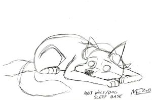 Wolf/Dog adult sleeping base sketch by MortenEng21