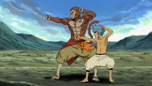 Kiiromaru and Sun Wukong Training by celsohenrique