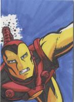Iron man sketch card by Joe-Singleton