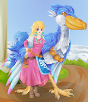 Skyward Sword: Zelda by Lady-of-Link