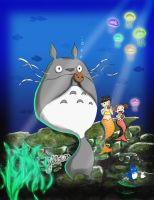 Totoro Under the Sea by jeibeas