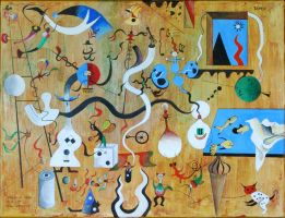 Joan Miro Homage by MickHamlin