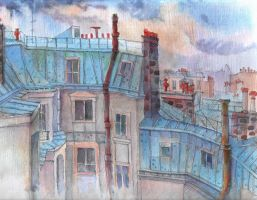 roofs.Paris by goalexxago