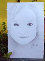 Beautiful Girl - Pencil Drawing on Paper by thelfs
