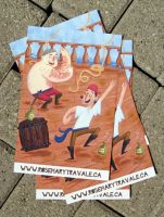 Pirate Dance Party Postcards by TRAVALE