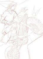 Link in mario kart sketch by AngelofHapiness