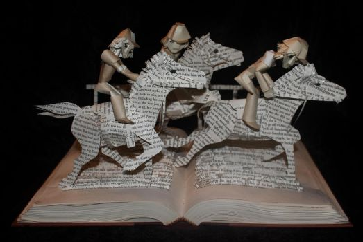 Horse Race Book Sculpture by wetcanvas