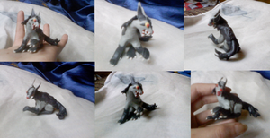 Mightyena plasticine by Weirda208