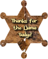 Another Thanks For The Llama by AudraMBlackburnsArt